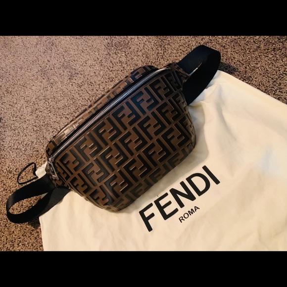 fad0df0ad8 Men's Embossed Leather Belt Bag Fanny Pack Bum Bag NWT